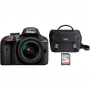 Cámara Nikon D3400 Reflex-Negro + Memoria SD 16GB + Estuche