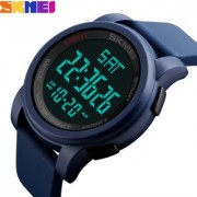 SKMEI Blue Men Sports Watches Double Time Countdown Military Watch 50M Waterproof Digital Wristwatches Clock