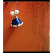 Paper Quilled jhumka Blue