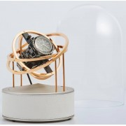 Bernard Favre Planet Gold&White leather watch winder