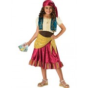 InCharacter Costumes Girls Gypsy Dress Costume, Multi Color, X-Large by Fun World