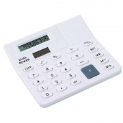 Bellatio Design Basic rekenmachine/calculator wit 12 cm
