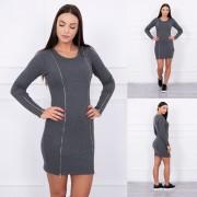 Kesi Dámské elastické šaty se zipy - Graffiti - Kesi