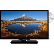Telefunken D22F342A LED-TV 55 cm 22 inch Energielabel: A (A++ - E) DVB-T2, DVB-C, DVB-S, Full HD, DVD-speler Zwart