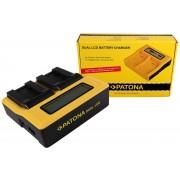 PATONA Dual LCD USB Charger for Sony NP-FC10 Cyber-shot Point & Shoot DSCP DSC-P DSCP10 DSC-P10