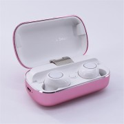 S8 Mini Sports Earphone Wireless Stereo Earbud Bluetooth 5.0 Headset with Charging Box - Pink