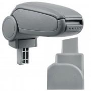 Подлакътник [pro.cet]® Opel Zafira A с контейнер за съхранение, Сив/Изкуствена кожа