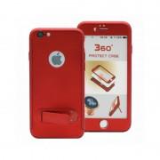 Husa Iphone 7 Full Cover 360 cu stand si placuta magnetica, Rosu