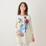 フラワーパッチワークロングジャケット【QVC】40代・50代レディースファッション