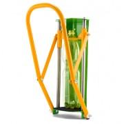 Falra szerelhető palackprés - strapabíró kivitel - kivizöld/sárga