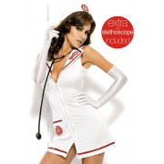 Costume Emergency Dress con Stetoscopio TC.Costumi da Infermiera Sexy: Scegli il tuo Costume da Sexy Infermiera!