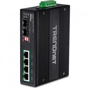 TRENDnet 8-Port Hardened Industrial Unmanaged Gigabit PoE+ DIN-Rail Switch, 200W Full PoE+ Power Budget, 16 Gbps Switching Capacity, TI-PG80 (Renewed)