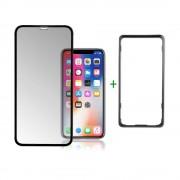 4smarts Second Glass Curved Easy-Assist - калено стъклено покритие с рамка за поставяне iPhone 11, iPhone XR (прозрачен-черен)