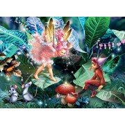 Forest Fairies Fairy, Elf and Mice Jigsaw Puzzle