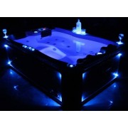 Whirlpool Outdoor Whirlpool Hot Tub Spa Wien 195x127 cm mit 25 Massage Düsen + Heizung ...