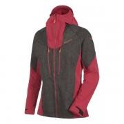 Salewa Sesvenna WO/DST - giacca con cappuccio trekking - donna - Black Out/Red
