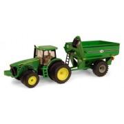 Tomy Ertl John Deere 8320R Tractor With J & M Grain Cart, 1:64 Scale