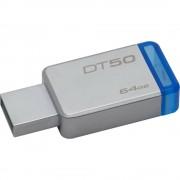 Memorie USB Kingston, DT50/64GB, 15MB, 64GB, USB 3.1, Argintiu