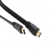 Omega Flat HDMI 4K Cable v1.4 - HDMI кабел с поддръжка на 4K за мобилни устройства (1.5 метра) (черен)