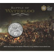 The 2015 200th Anniversary of Battle of Waterloo UK £5 Brilliant Uncirculated Coin by The Royal Mint