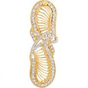 MFJ Fashion Fashionable Filigree Design Zinc Gold Plated White Stone Hair Clip For Women