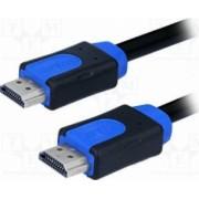 Cablu video LogiLink HDMI HighSpeed cu Ethernet A tata la A tata 15m Negru-Albastru