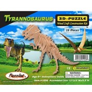 Puzzled Tyrannosaurus Wooden 3D Puzzle Construction Kit