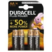 Duracell batterijen AA DuraLock 1.5V zwart/bruin 4 stuks