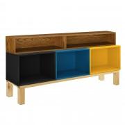 en.casa Estanterías de oficina con soporte - Con 5 compartimientos - 63x135x30cm - Sistema de estantes para almacenar - Multicolor