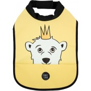 Baby Livia High Neck Slabbetje – Polar Bear Happy yellow