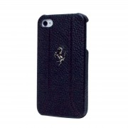 Officially Licensed Ferrari Black iPhone 5 Leather Hardcase