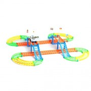 TOYMYTOY Car Race Tracks Racing Game Set Flexible Track Toy Kids DIY Assembly Toy