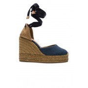 Castaner Canvas Carina Wedge Espadrilles in Blue. - size 37 (also in 35,36,38,39,40,41)