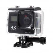 Sonstige Marke Ultra HD 4K Sport Action Kamera 2 Zoll 12MP WiFi Wasserdicht + 20-tlg Zubehör Set - Schwarz