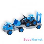 Mochtoys Műanyag traktorszállító kamion, gumi kerekekkel 61cm - több színben