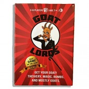 Goat Lords -- Hilarious and Competitive New Card Game Best for Adults Teens and Kids Ages 7 and Up. Awesome Party Game for Families Fun Nights Camping etc - Hard Durable Box - Free e-Book