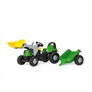 Rolly Kid Deutz-Fahr pedálos markolós traktor utánfutóval
