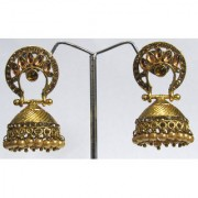 Golden Pearl Drop Jhumka Earring