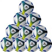 erima Fußballpaket (10 Stück) HYBRID TRAINING - weiß/blau/gelb | 4
