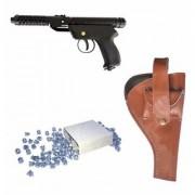 Prijam Air Gun Bm-2 Model With Metal Body For Target Practice Combo Offer 300 Pellets With Cover Air Gun