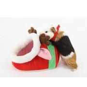 Mooie Mini rode Moose vorm cavia huisdier bedden comfortabele Spider Hamster Cotton huisdier House grootte: L 23 * 21 * 15 cm