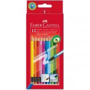 Creioane colorate 12 culori cu guma Eco Faber-Castell