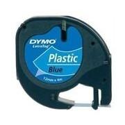 Dymo 91205 (S0721650) 12mm Cinta pl?stica negro sobre azul