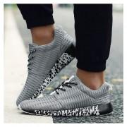 Respirable Superficie Neta Zapatos Deportivos Ocio Para Correr Ligero Amortiguamiento -Gris