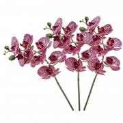 Shoppartners 3x Fuchsia roze Phaleanopsis/vlinderorchidee kunstbloemen 70 cm