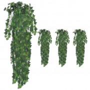 vidaXL Sztuczny bluszcz, 4 szt., zielony, 90 cm