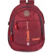 Classic Polyester Multi Pocket School Bag |Casual Bag | Shoulder Backpacks for Girls & Boys 36 L Backpack(Maroon)