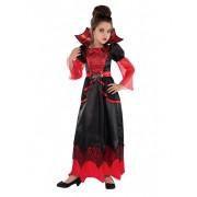Disfarce de vampiro menina halloween - 8-10 anos (128-134 cm)