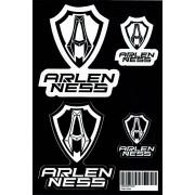 Arlen Ness Conjunto de pegatinas Negro Blanco un tamaño