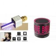 Roar Q7 Portable Wireless Karaoke Microphone Handheld Condenser Microphone Inbuilt Speaker Microphone and bluetooth speaker (S10 Speaker Wireless LED Bluetooth Speaker S10 Handfree with Calling Functions & FM Radio Assorted Colour)for SAMSUNG GALAXY J